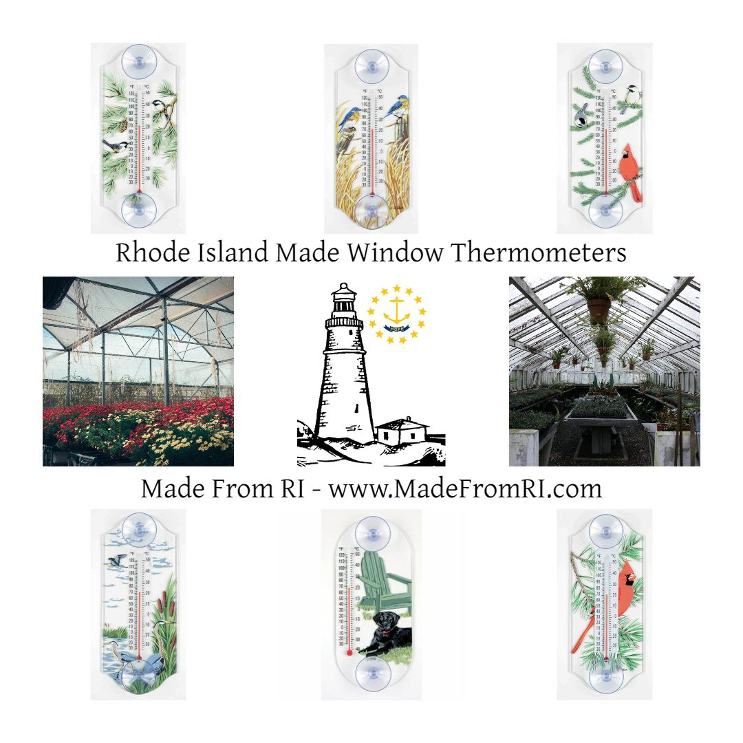Blog: Window Thermometers at Made From RI Perfect for home, workshop, boat, RV, or greenhouse   #MadeFromRI #Thermometer #WindowThermometer #Home #RV #boat #Greenhouse #Workshop