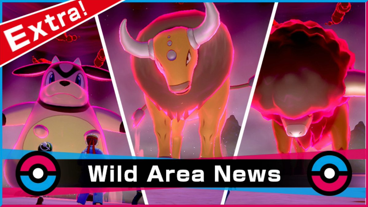Serebii Update: A new special Max Raid Battle Event featuring various  Pokémon has begun in Pokémon Sword & Shield including a chance to get Shiny Tauros. Runs until January 24th at 23:59 UTC. Details being added @