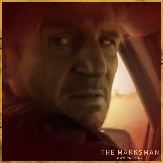 'I'm retiring from ass-kicking before I need a walker' - Liam Neeson. Don't miss #TheMarksman, one of his last action blockbusters, in Australian cinemas now.
