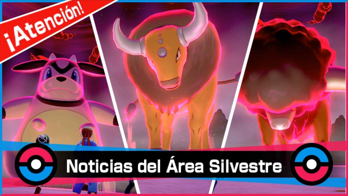 Nuevo evento de Incursiones Dinamax en Pokémon Espada y Escudo:  📅 22 a 24 de enero ➡️ Tauros Shiny 💫 ➡️ Miltank ➡️ Bouffalant  ➡️ Más información: