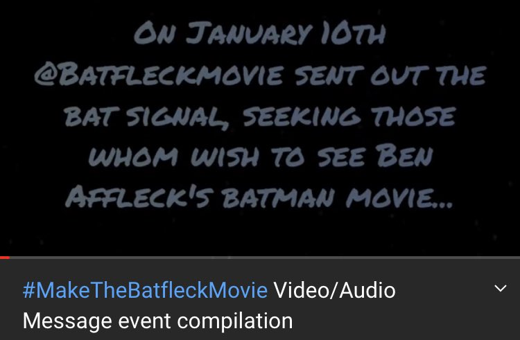We @BatfleckMovie wanted to thank each and everyone of you who took part in our last event and made it such a success!!!! This video is a tribute to you made by two of our talented admins! @jasonkilar @hbomax @WarnerMedia @ATT @Caseybloys Look at this!
