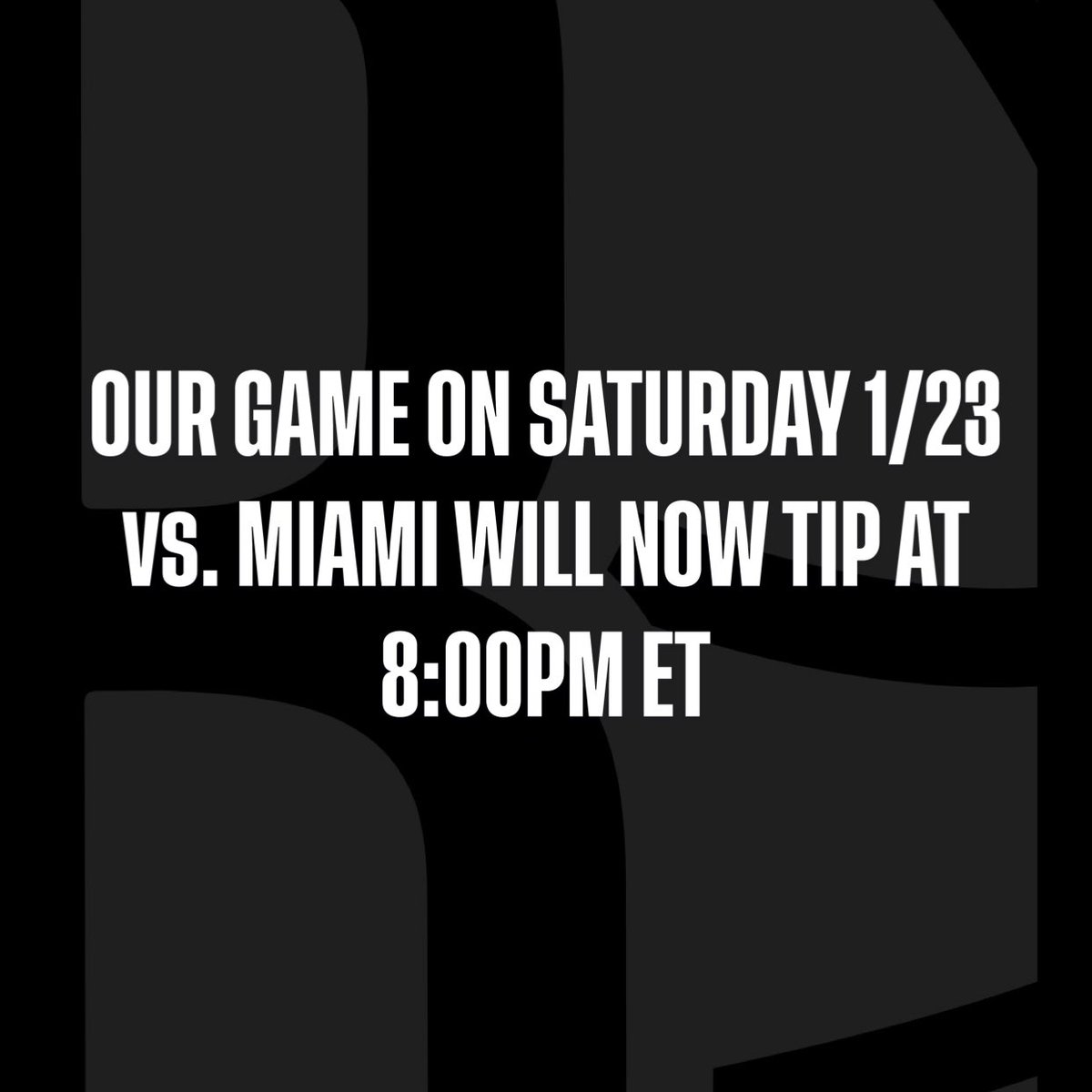Scheduling note for this Saturday: