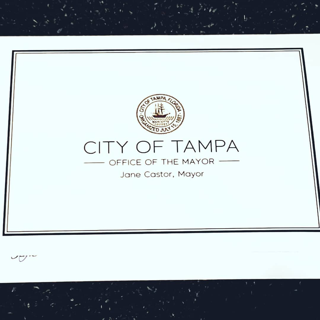 The Mayor of Tampa sent a quaint little card today. 💙 Thanks, Mayor @JaneCastor! We can't wait to meet with you. 😁  #endhomelessness #donttripuplift #AmericaFirst