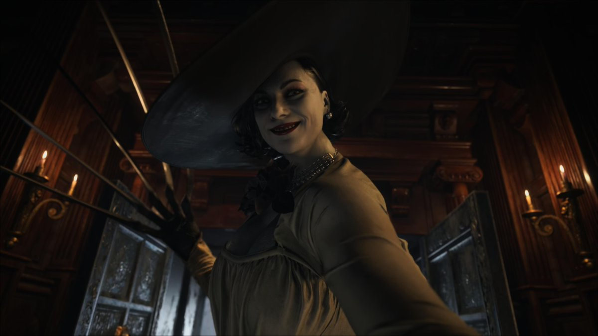 #ResidentEvilVillage Demo is so class! Hello Tall Vamp Lady....