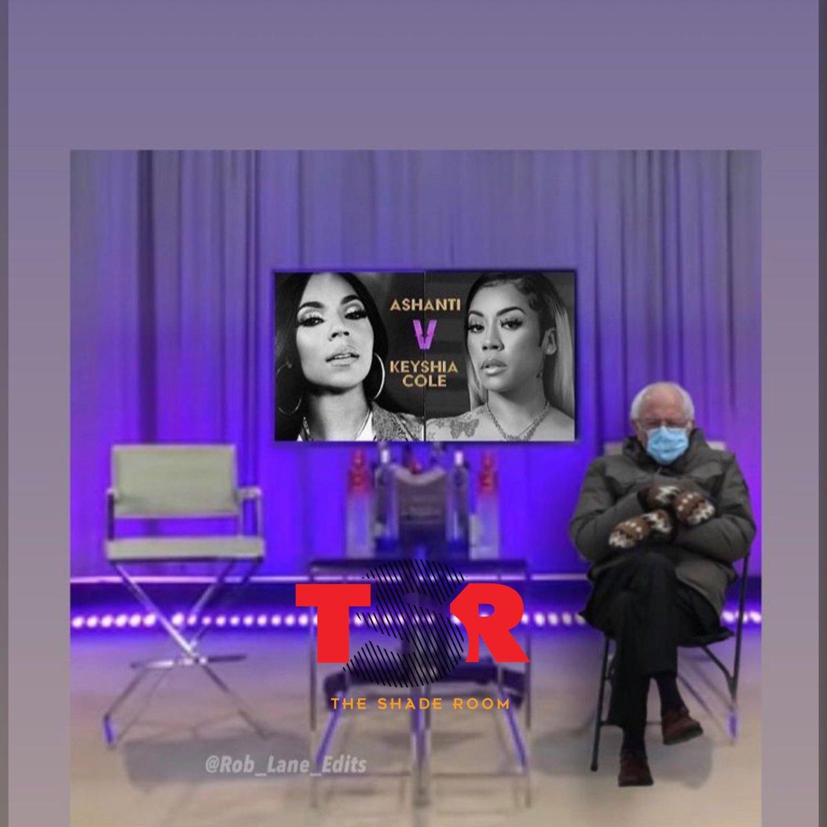 This how y'all waiting for the Keyshia Cole & Ashanti 'Verzuz' battle to start?😂 (📸:@rob_lane_edits)