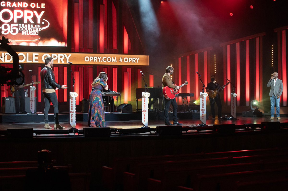 This is the best surprise we could ever ask for!! Today while filming for an upcoming @Opry special, @DariusRucker invited us to become the newest members of the Grand Ole Opry. To say we are honored is an understatement. We are so grateful to be a part of this amazing family.