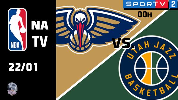 E no show da virada de hoje tem @PelicansNBA e @utahjazz. Quero só ver o Gobert causando com o Zion no garrafão.  #wontbowdown #TakeNote #NBA #NBATwitter #NBAnoSporTV https://t.co/5kM7Yvtnh8
