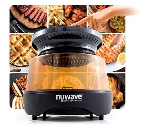 NuWave Primo Countertop Dome Oven 8-in-1 Grill with Smart Probe - Now Get Perfect Grill Marks & Never Over/Under Cook Food Again. Primo Uses Convection, Conduction, Infrared Heat ...  #countertop #dome #grill #cook #heat #grillmarks #infraredheat #probe