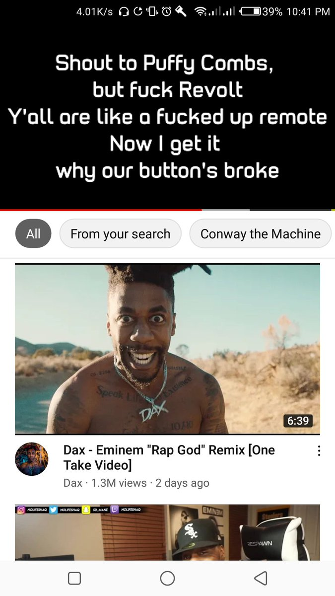 Shout to Puffy Combs, but F*** Revolt Y'all are like a fucked up remote Now I get it why our button's broke #Diddy #revolt #eminem #MusicToBeMurderdBy #BillieEilish #TrendingNow #slimshady #rapmusic