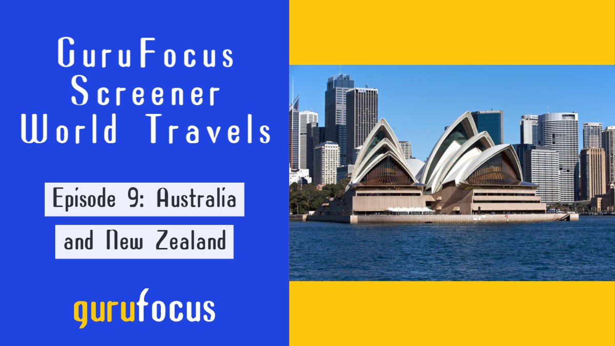 Join GuruFocus on a virtual tour of the Australia and New Zealand stock markets. Look at a few companies with good profitability and cash-to-debt ratios. Read the full article here:   #valueinvesting #WarrenBuffett #investing #stocks