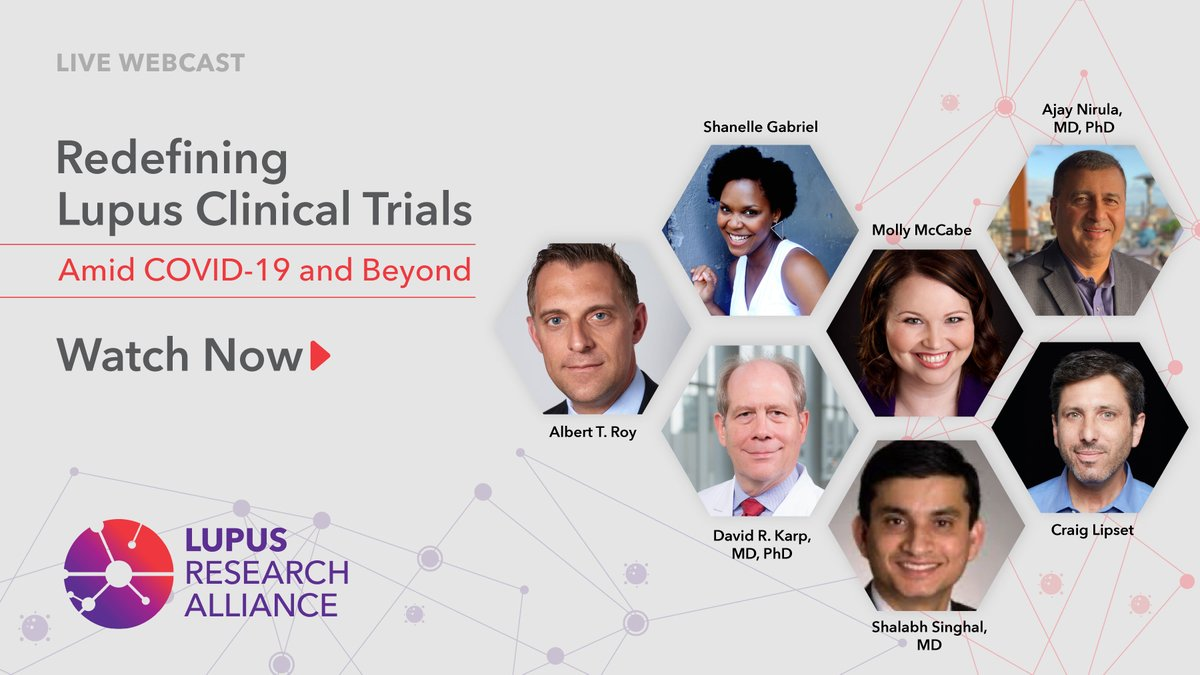 #LearnfromLupus on our webcast on Redefining Lupus Clinical Trials Amid COVID-19 and Beyond! Watch now to hear from a panel of #lupusexperts, as they talk about how trials are adapting to meet patient needs and how they can help bring the new treatments:
