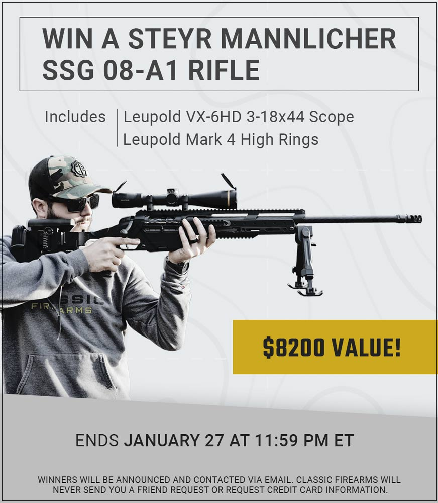 🚨NEW CONTEST ALERT🚨 We decided to go with a rifle perfect for distance this time around, which is why we're giving away this Steyr SSG 08-A1 rifle complete with the Leupold VX-6HD scope! Head to our site now and start getting those early entries in -