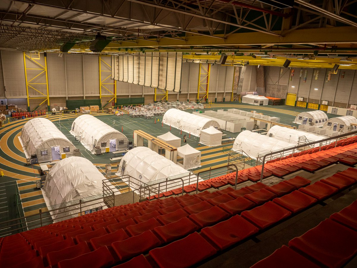 As part of Alberta's COVID-19 response, AHS continues to increase capacity across our healthcare system. Equipment is onsite and the Pandemic Response Unit at the Butterdome is ready and will open for patient use only if needed.