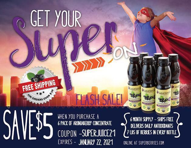 Final Hours to Save an extra $5 On 6-Packs of #Aronia Concentrate.  Use Coupon Code: SUPERJUICE21 on https://t.co/ZxPzA9LH9I. Demanding times call for #Superberries #Antioxidant Aroniaberry Juice.  Mix 1 tsp in water 2-3 times a day https://t.co/jAMNj1PyJj https://t.co/WDhUfHNUuK