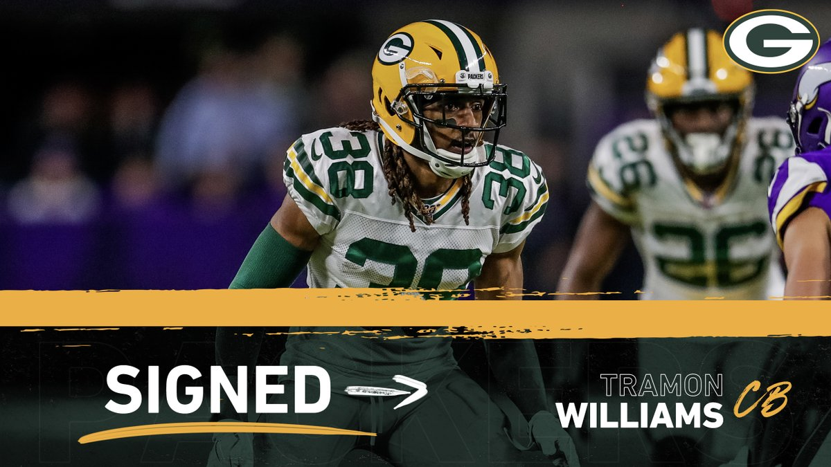 Welcome back, @HighRizer22   #Packers sign CB Tramon Williams to the practice squad 📰:   #GoPackGo