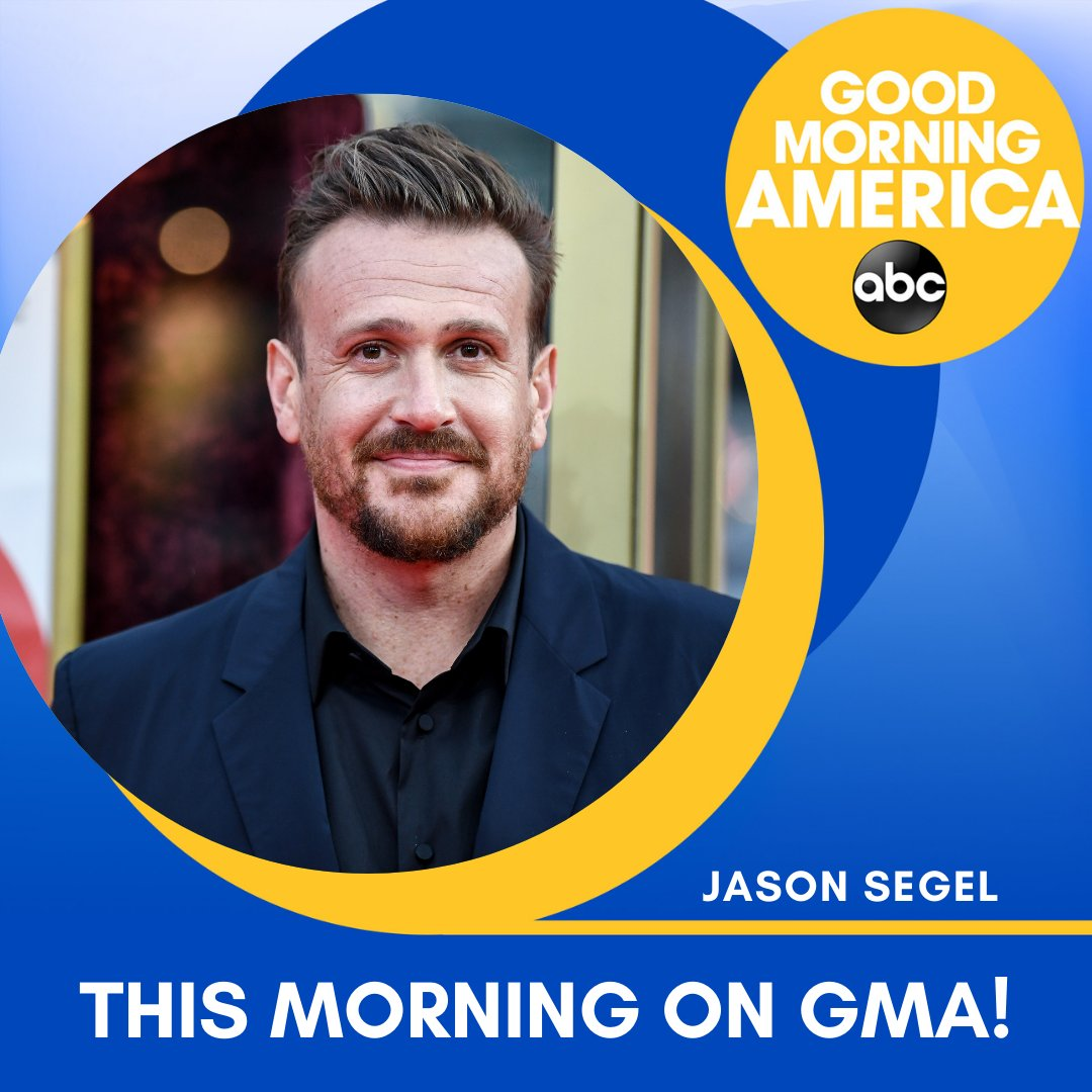 THIS MORNING ON @GMA: @jasonsegel joins us live to talk about @OurFriendMovie!