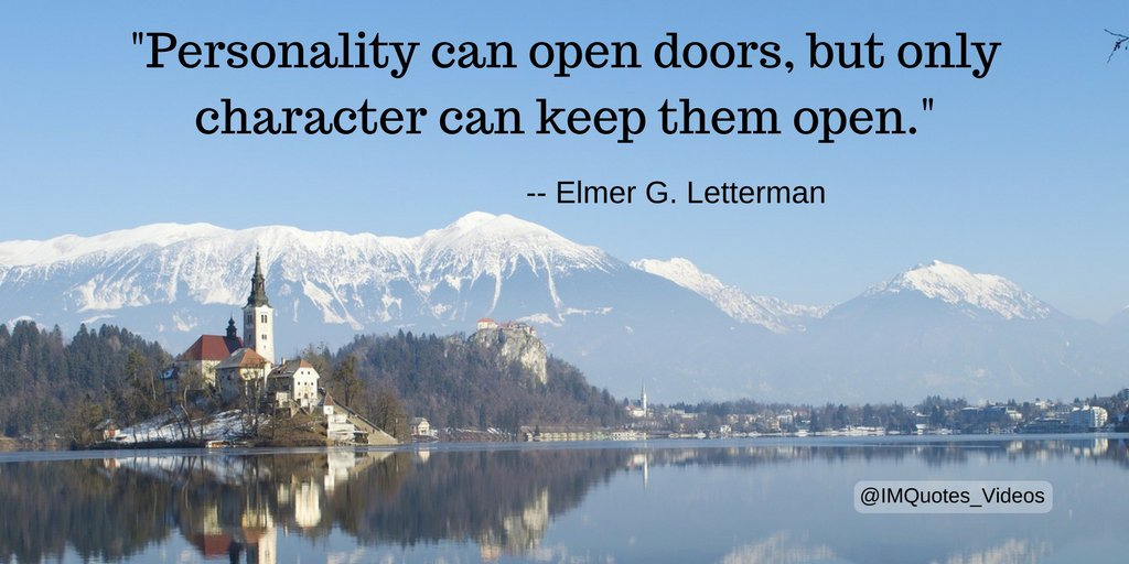 Replying to @IMQuotes_Videos: Character development is one key to long-term success.  #Quotes  #Motivation #Personal Growth