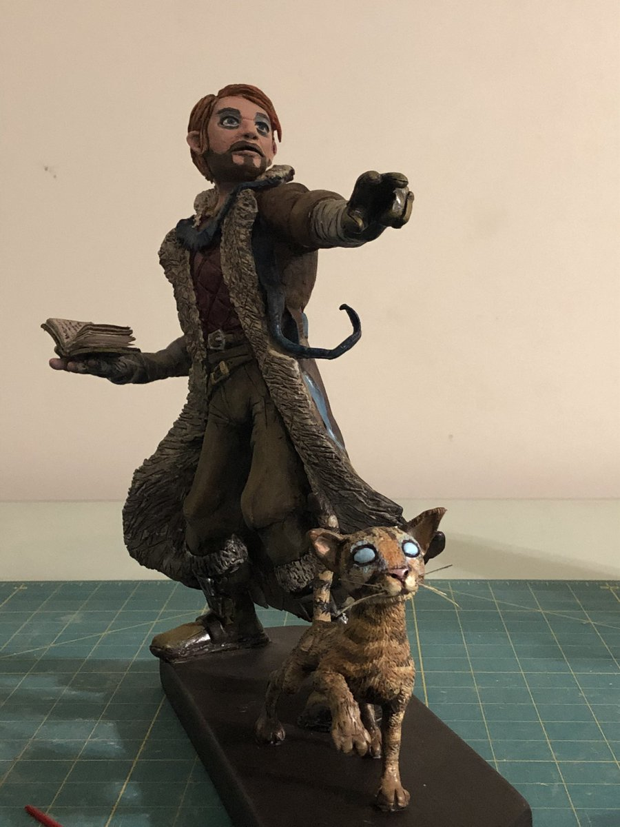 @Wizards_DnD Here is a statue of Caleb Widogast of The Mighty Nein that I just finished up this week. #dndartists