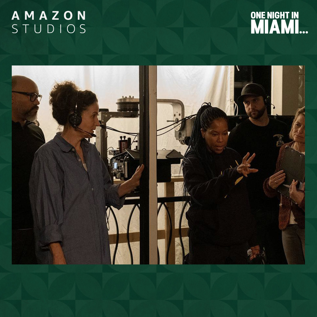 A BTS look at the production of One Night in Miami..., featuring dir. @ReginaKing and cinematographer Tami Reiker. #OneNightInMiami is available now on @PrimeVideo.