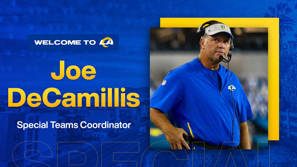 We've agreed to terms with Joe DeCamillis.  Join us in welcoming our new Special Teams Coordinator! »