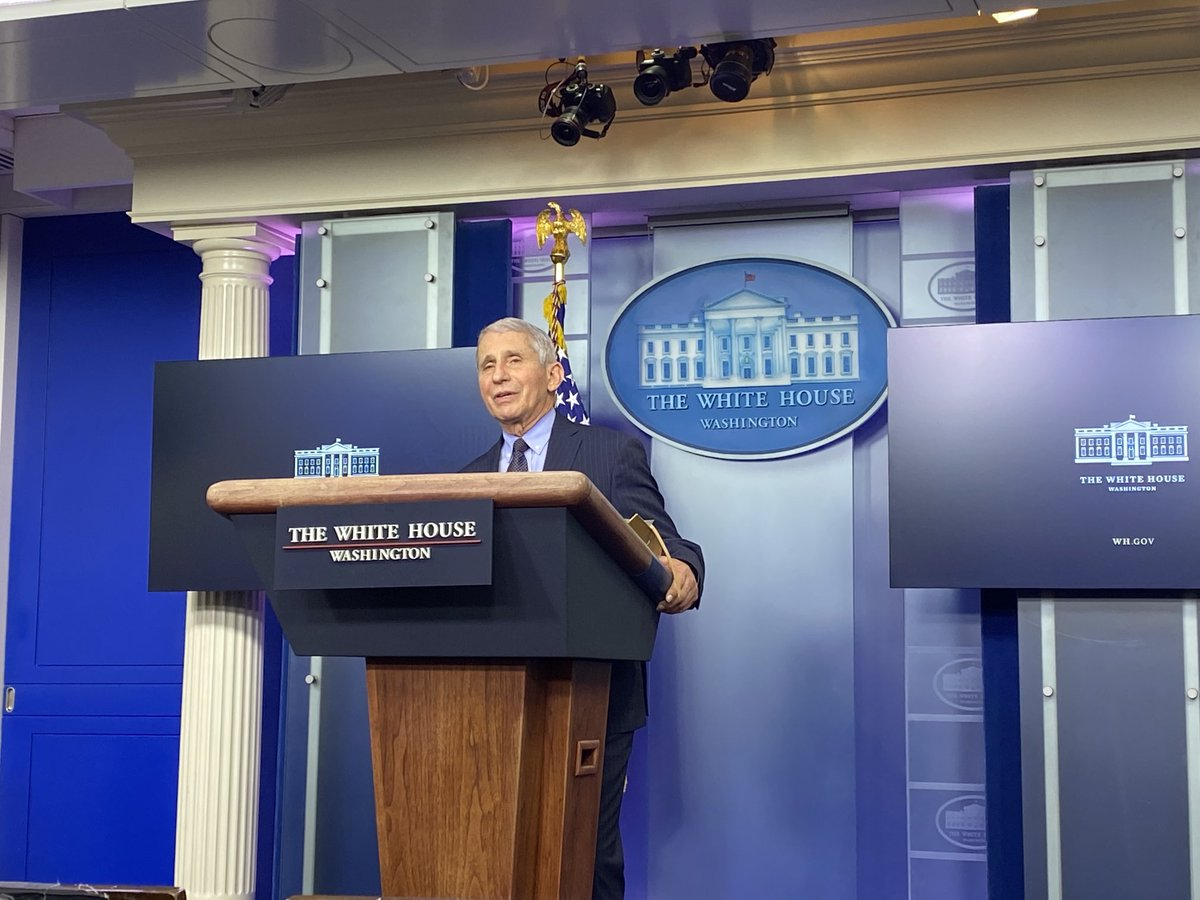 Fauci returns to the White House briefing room. https://t.co/UBG5yBhFI2