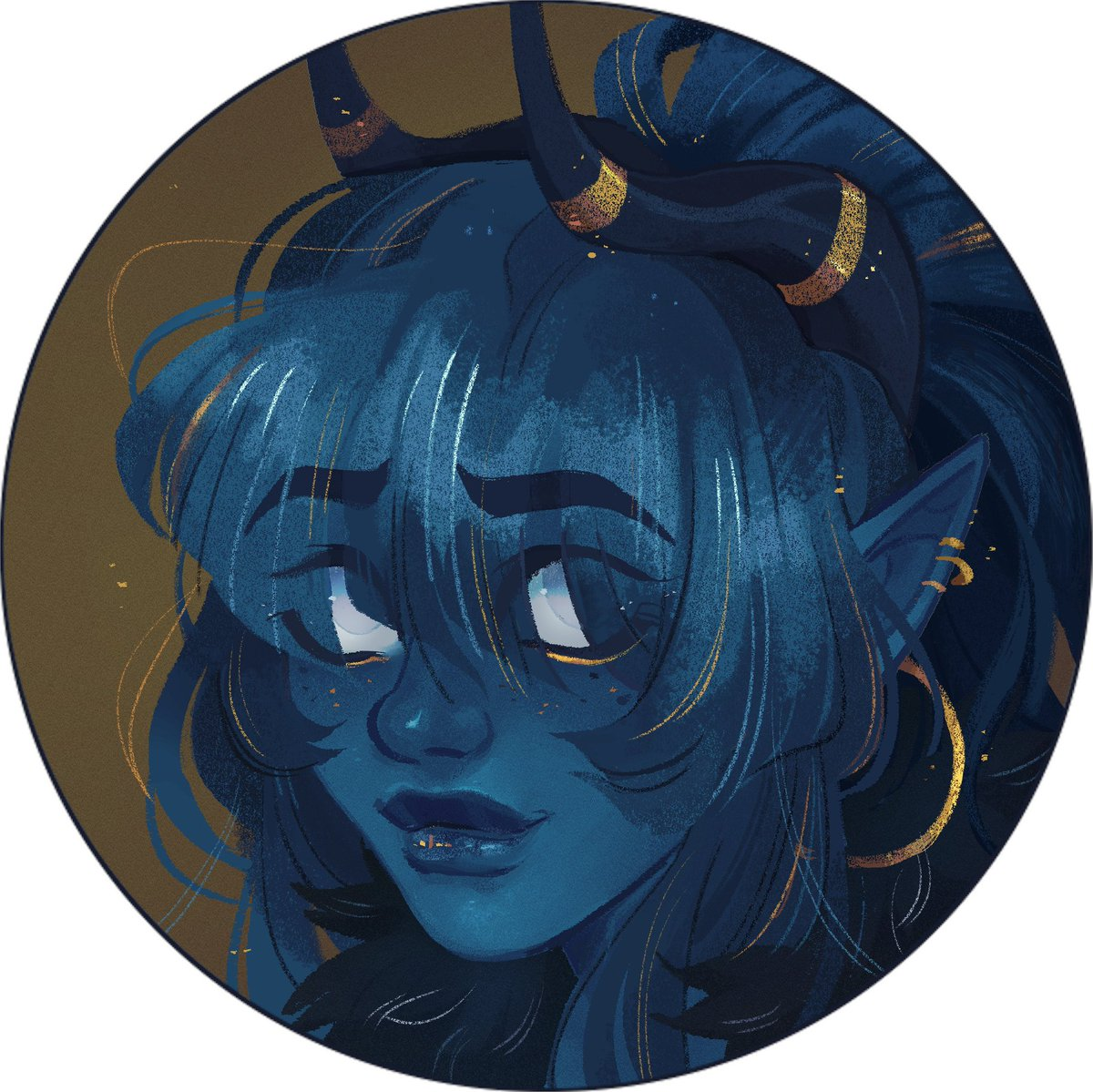 Hello is #dndartists trending??? Meet Kate, my Tiefling Warlock of the Raven Queen that I currently play in The Emerald Valley!! : ) <3   Been playing dnd for years but this campaign since june 2018!!