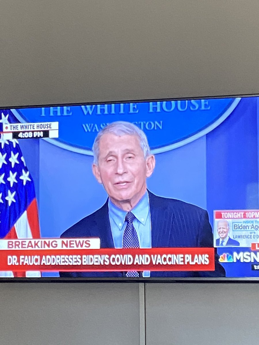 Yessss he's back! #dailypressbriefings #Fauci #science #ScienceMatters #VaccinesWork