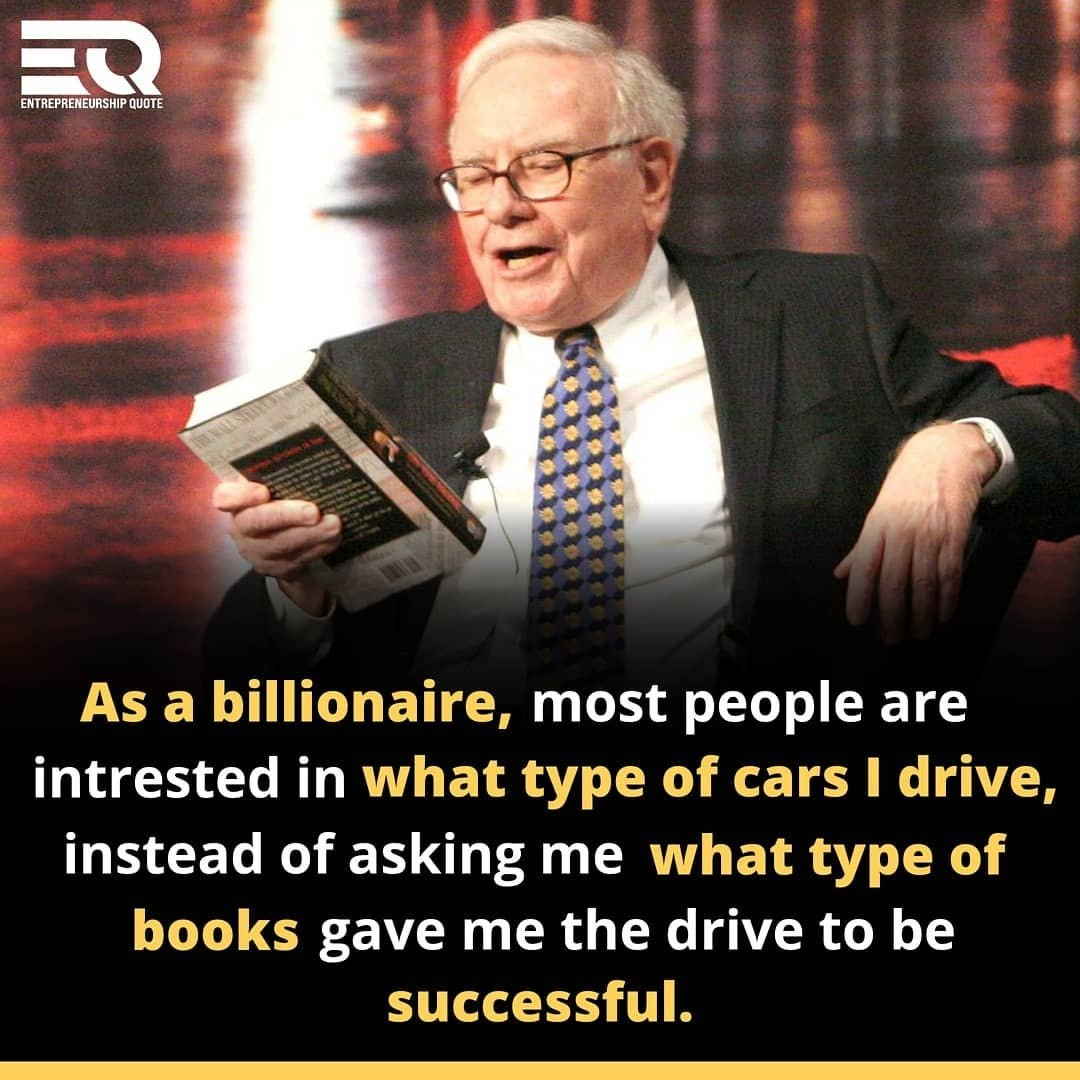 Wise words from the legend that is #WarrenBuffett. Focus on books, not cars. Trust me, I want a flashy car, The car I have now is good and reliable. One day I'll upgrade my car to something a bit flash. Until then, imma keep writing my books and growing my net worth.