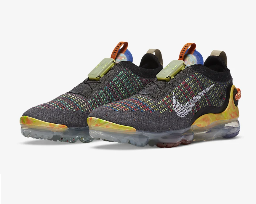 #ad The Nike Women's Air VaporMax 2020 'Iron Grey/Multi-Color' is now available via @FinishLine! |$220| #SneakerScouts @Nike