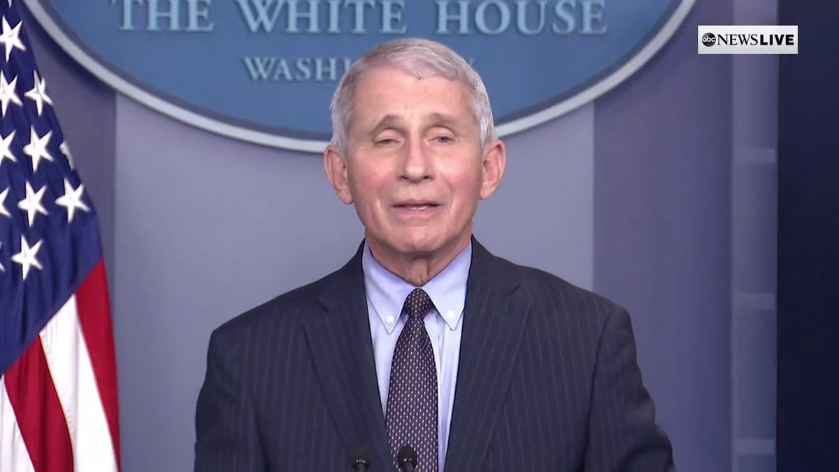 """One of the new things in this administration is if you don't know the answer, don't guess,"" Dr. Anthony Fauci says at White house briefing. ""Just say you don't know the answer."""
