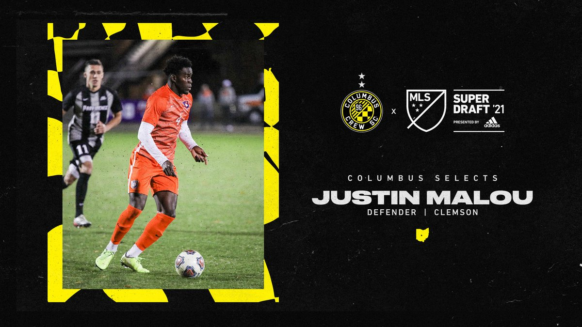 With the 27th pick, #Crew96 selects Justin Malou from @ClemsonMSoccer.  #SuperDraft | @adidassoccer