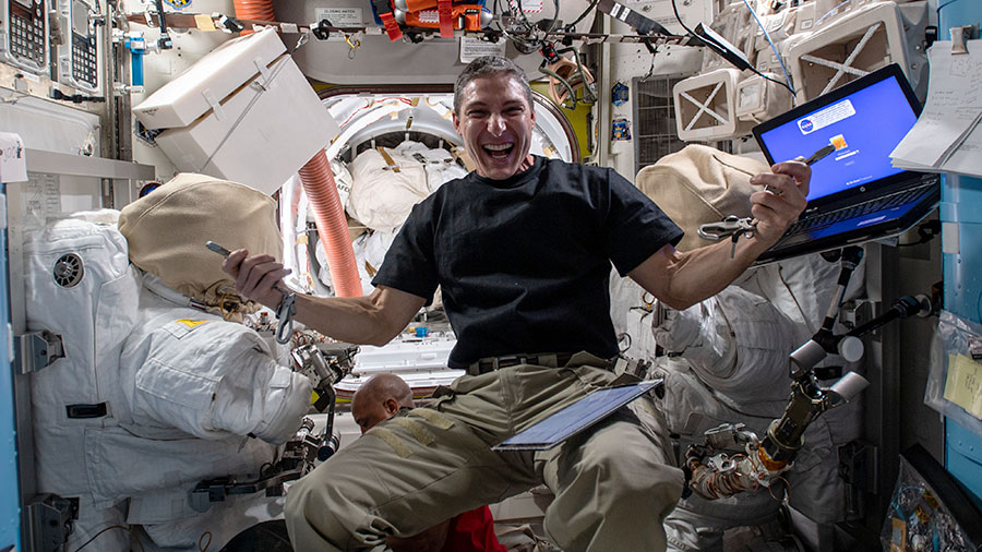 DNA, time perception and combustion science filled the schedule as the Exp 64 crew trained for a pair of spacewalks. More...