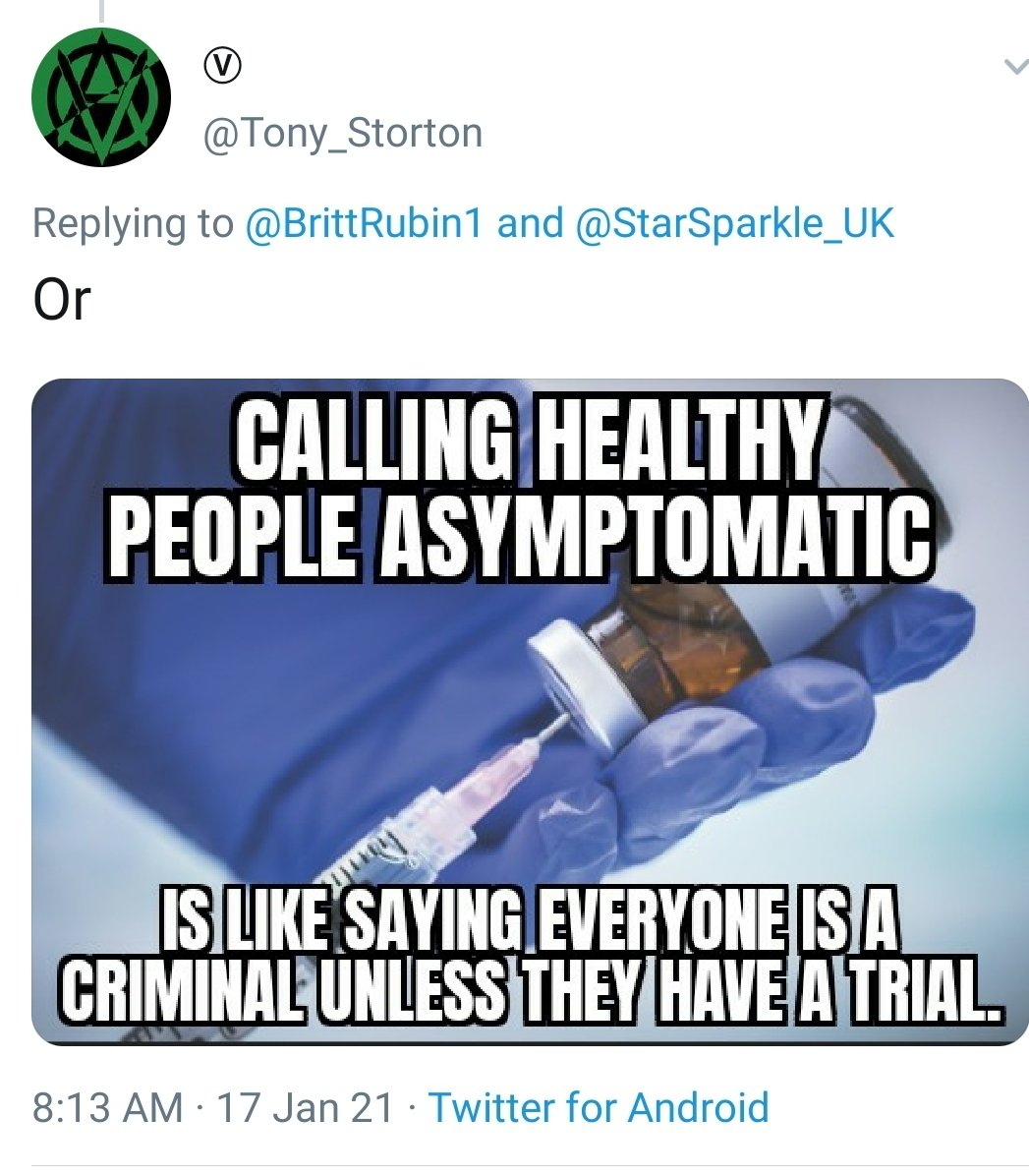 I'm being told by the tweet author that this makes perfect sense, I'm just not bright enough to get the point. I really believe that it's just a stupid anti-vax meme that's Not Even Wrong, but could I possibly be missing something?  #COVID19 #VaccinesWork