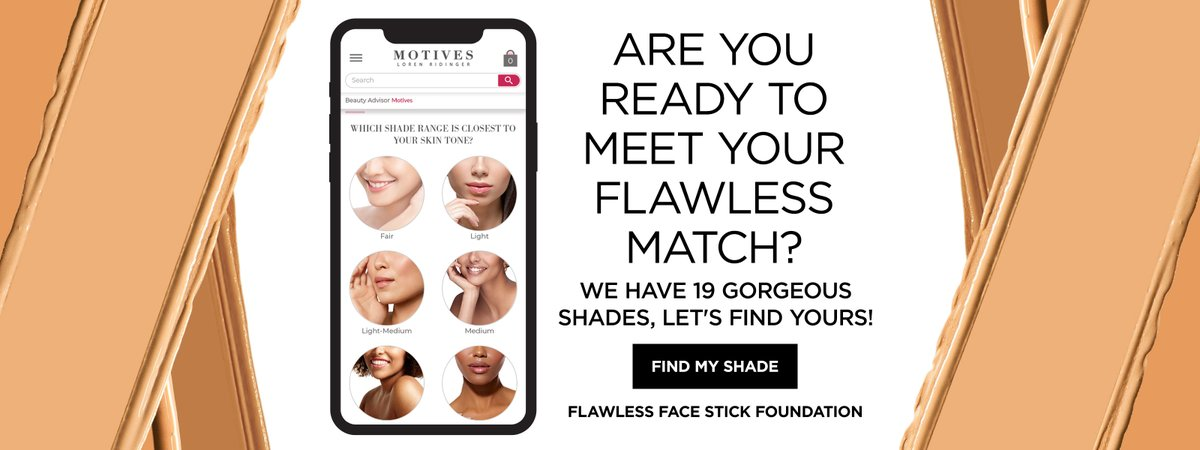Choosing a foundation shade is so personal. Find your perfect match of our Flawless Face Stick Foundations with our super helpful shade finder quiz!  🖤
