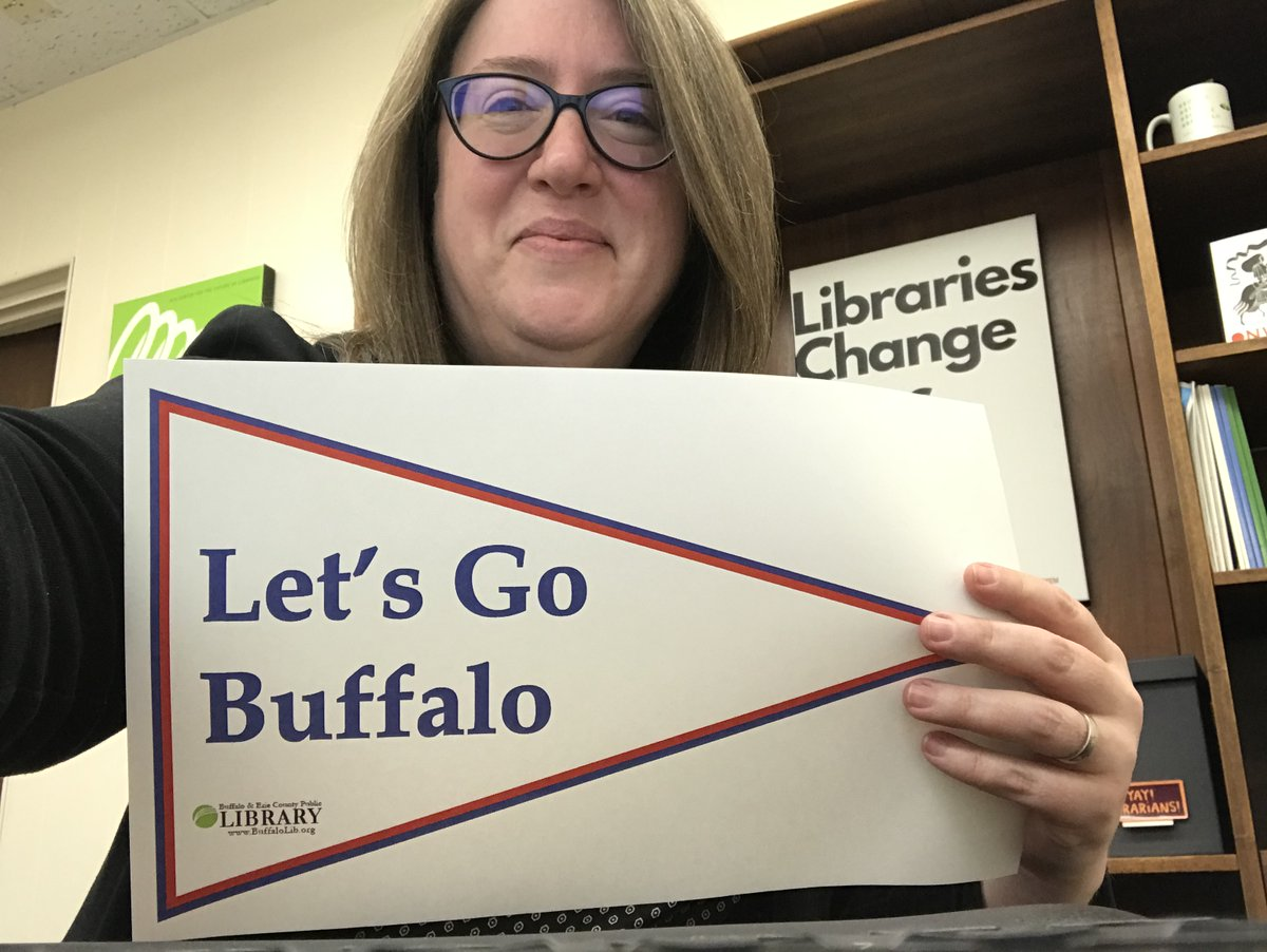 Hey @mcplmo.... our friends at the Mid-Hudson Library System and @WNYLRC are members of #BillsMafia! We're all incredibly excited for Sunday's #AFCChampionship game.