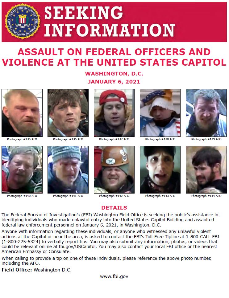 We are continually updating our posters with better photos! Use the link below to see photos of individuals we are asking the publics help to identify. Thank you for your continued help & support! fbi.gov/wanted/seeking…