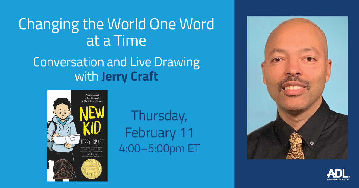 """February 11th -- JOIN US for a special """"Conversation and Live Drawing"""" with @NYTimes best-selling author and illustrator, @JerryCraft.  Register below for a chance to win a signed copy of his book!   https://t.co/ASdH1DqxvK https://t.co/7iE0l3ncii"""