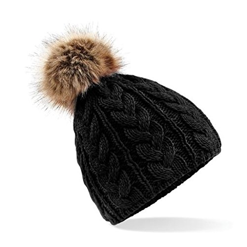 Check out Unisex Chunky Soft Cable Knit hat with Faux Fur pom pom Cable Beanie- From Fayde Golf Europe  #Beanie #FauxFur #Fashion #Fashionista #KeepWarm #Style #Fashionicon #Exercise #Walking #Keepfit #StaySafe #NewYearNewMe