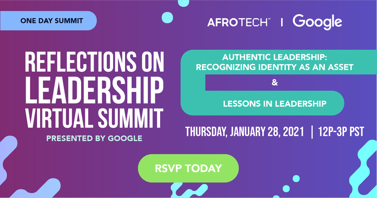"""What's in store for Jan. 28? A special day with @lifeatgoogle! Get ready for Google exec-led sessions """"Authentic Leadership: Recognizing Identity as an Asset"""" & """"Lessons in Leadership."""" Stick around for the inside scoop on #lifeatGoogle 👀. Register here:"""
