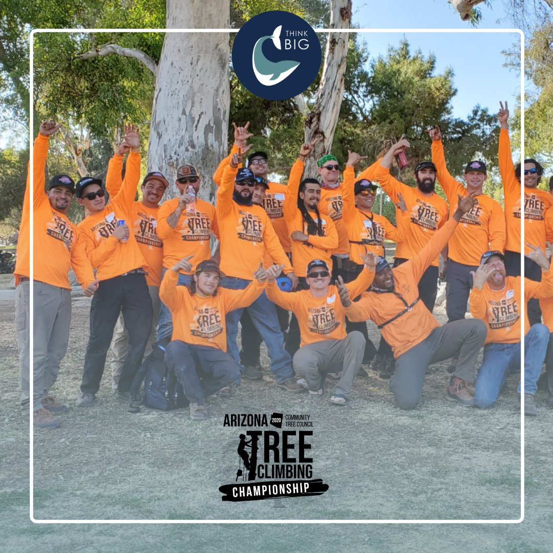 Something pretty satisfying about having a bunch of incredibly talented, grizzly, #arborist dudes donning one of our #tshirtdesigns! This was for the 2020 @AZCommunityTree Annual Tree Climbing Championship event. #graphicdesign #nonprofit #graphicdesigner