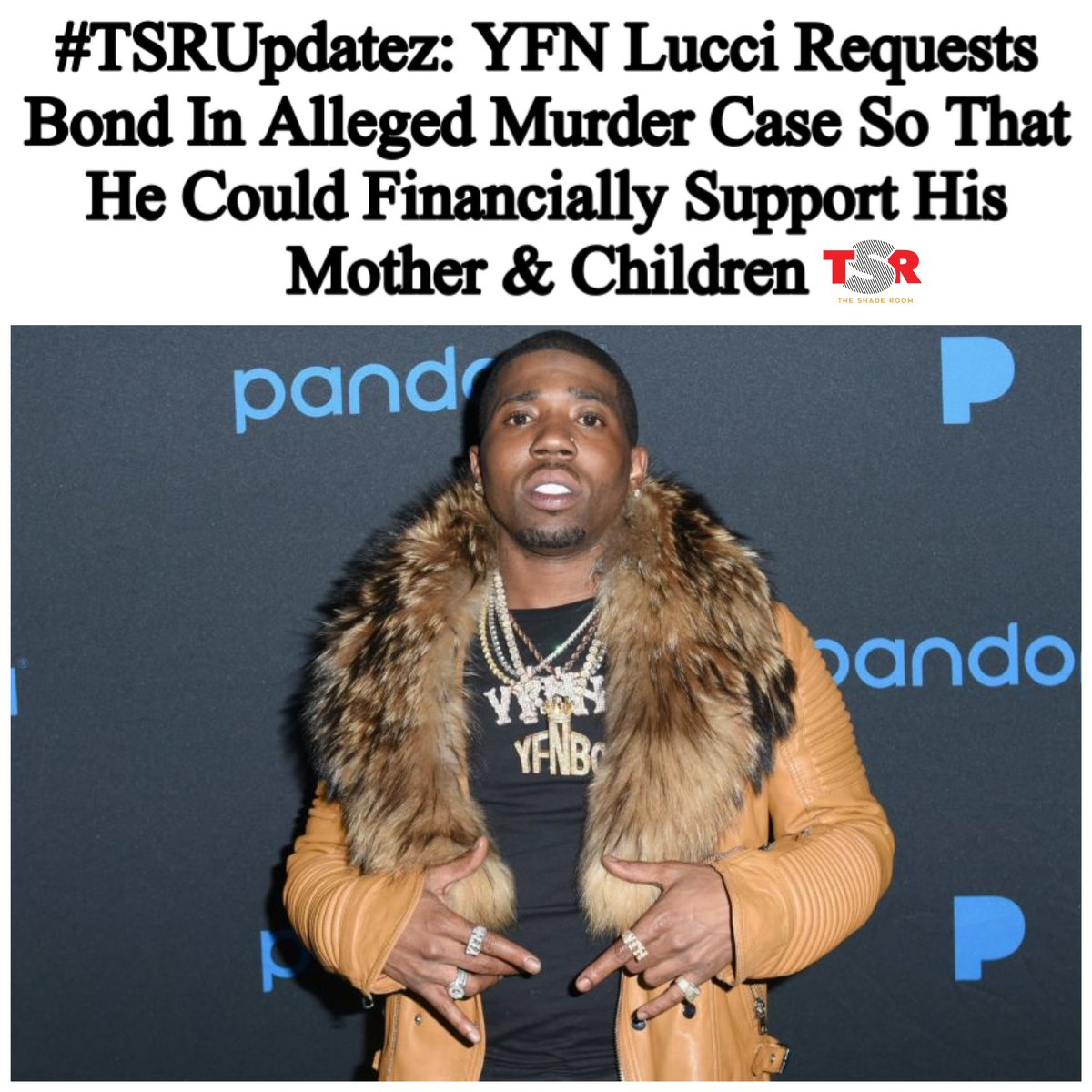 According to legal documents obtained by @TMZ_tv, YFN Lucci asked the judge to set a reasonable bond because he has
