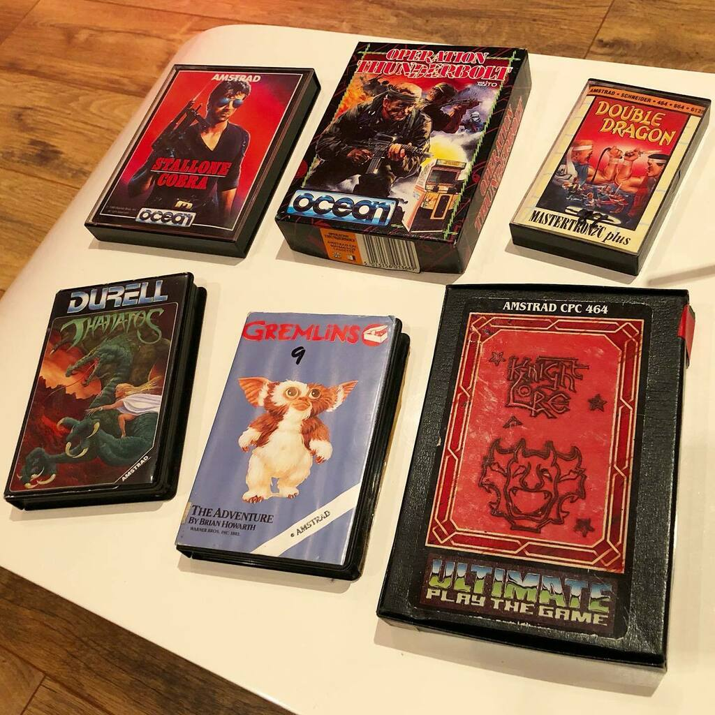 Picked up a great bundle of games for the Amstrad from a local seller today. Some nice titles. 🎮✌🏼#retro #gamer #retrogamer #gaming #collector #vintage #80s #nostalgia #knightlore #cobra #gremlins #doubledragon #operationthunderbolt #thanatos