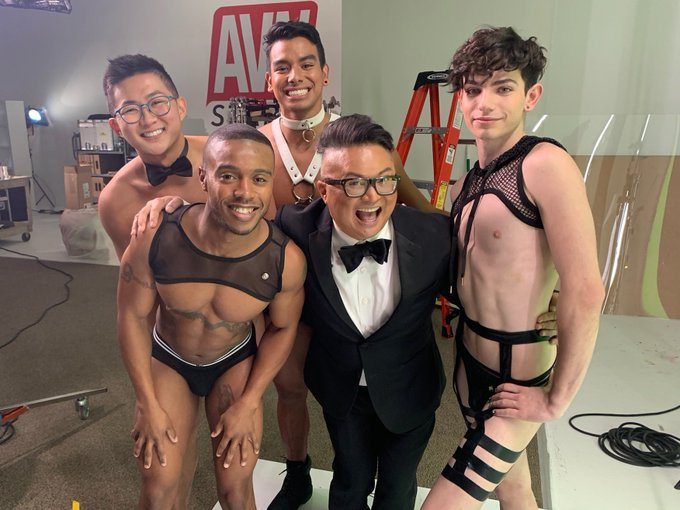 2 pic. I am so grateful for the opportunity I had to be a Trophy Boy this year at the 2021 GayVN Awards