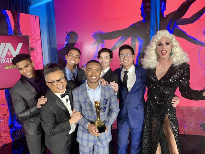 3 pic. I am so grateful for the opportunity I had to be a Trophy Boy this year at the 2021 GayVN Awards