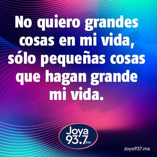 Joya 93.7 FM (@Joya937FM) twitteó: #FelizDomingo #FraseDelDia 🖊 https://t.co/RbuPaiGDXD (https://t.co/S9shcx7pGR)