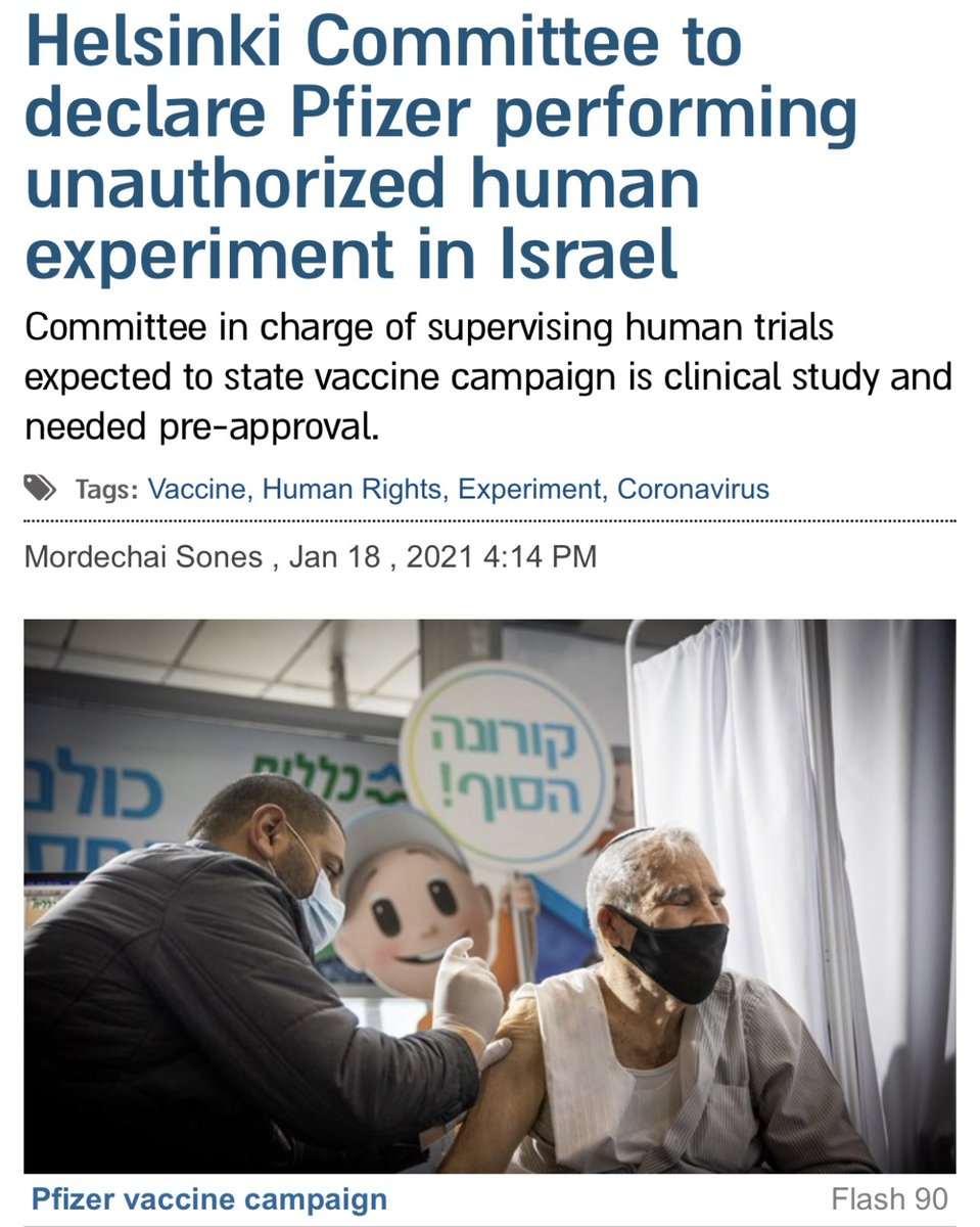 HCHR is expected to announce that Pfizer is conducting unauthorized human experiments in Israel.  AFLDS has always said these are EXPERIMENTAL biological agents. Finally the world is catching up.   Sign up now to learn the facts.