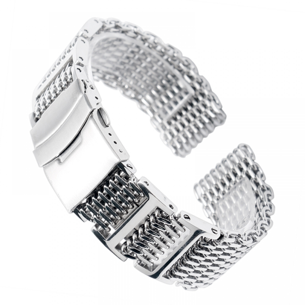 #handsome #cool Mesh Silver Stainless Steel Watchband