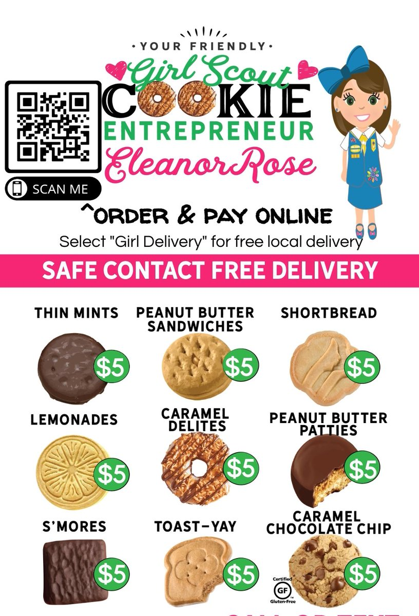 Eleanor has those delicious chocolate covered #Smores  #girlscoutcookies for your enjoyment. And the best #Lemonades #CookieBoss #Entrepreneur