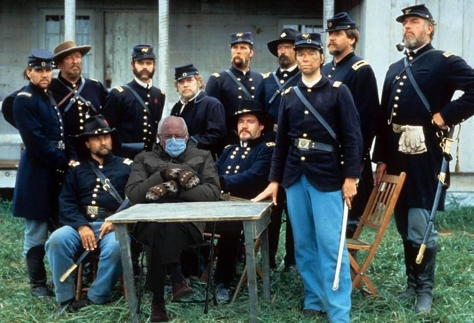 Replying to @fifer1863: Well this rare photo from the Civil War just surfaced... #sschat #berniesmittens