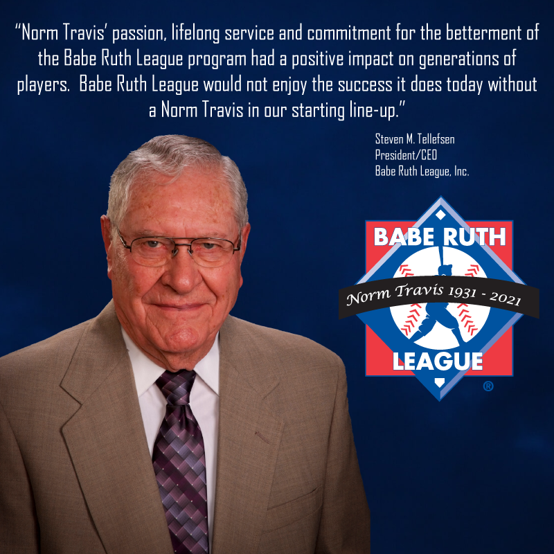 Babe Ruth League is saddened to announce the passing of Board of Directors Member, Norm Travis. https://t.co/U3XQ3riyNz